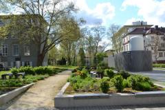 Garten vor der Physik © C. Staeves & M. Kuta 2012