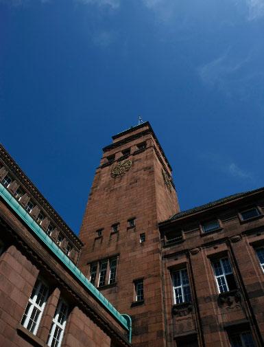 Blick auf den Uniturm © P. Mesenholl 2009
