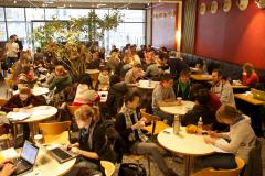 Im Café Europa können sich Studierende zum Lernen und Entspannen treffen. © Sebastian Bender 2011