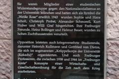 """Informationstafel zum """"Platz der Weißen Rose"""" in Gedenken an die studentische Wiederstandsgruppe """"Weiße Rose"""" © M. Feige 2014"""