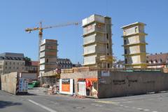 Die neue UB übernimmt nur den Keller mit dem Tiefenmagazin und die Fahrstuhlschächte der alten UB.© R. Gschwendtner 2012
