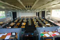 Augelagerte Bibliothek in der ehemaligen Messehalle© R. Gschwendtner 2011